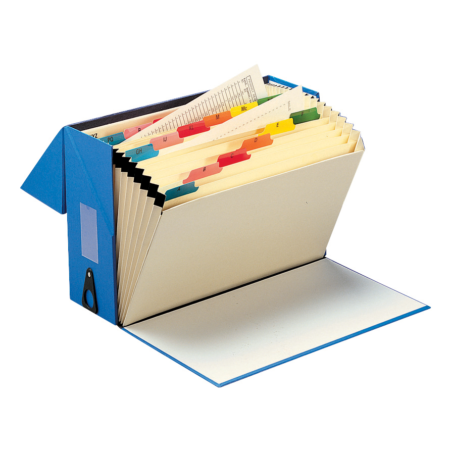 5 Star Office Expanding Box File 19 Pockets A-Z Foolscap W374xD134xH253mm Blue