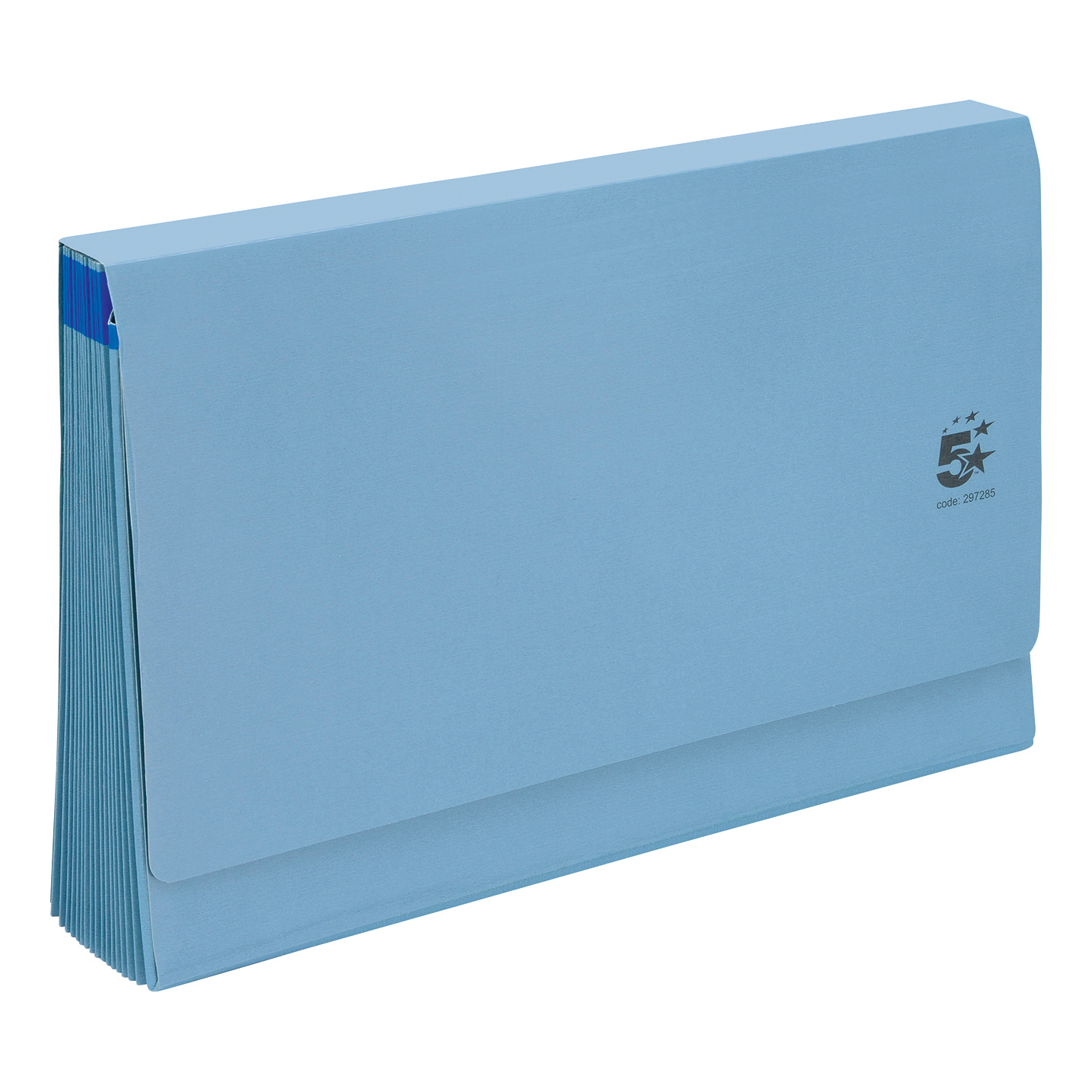 5 Star Premier De Luxe Expanding File with Flap 16 Pockets A-Z 12 Months 1-31 Foolscap Blue