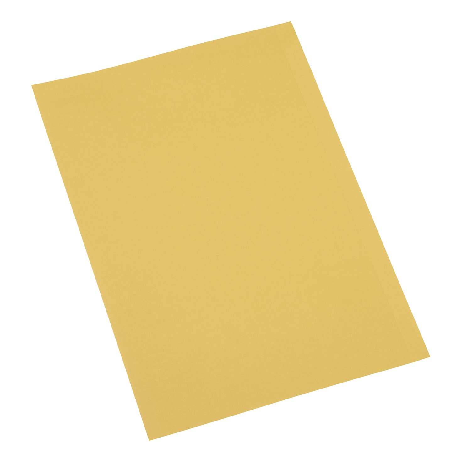 5 Star Office Square Cut Folder Recycled Pre-punched 250gsm Foolscap Yellow [Pack 100]