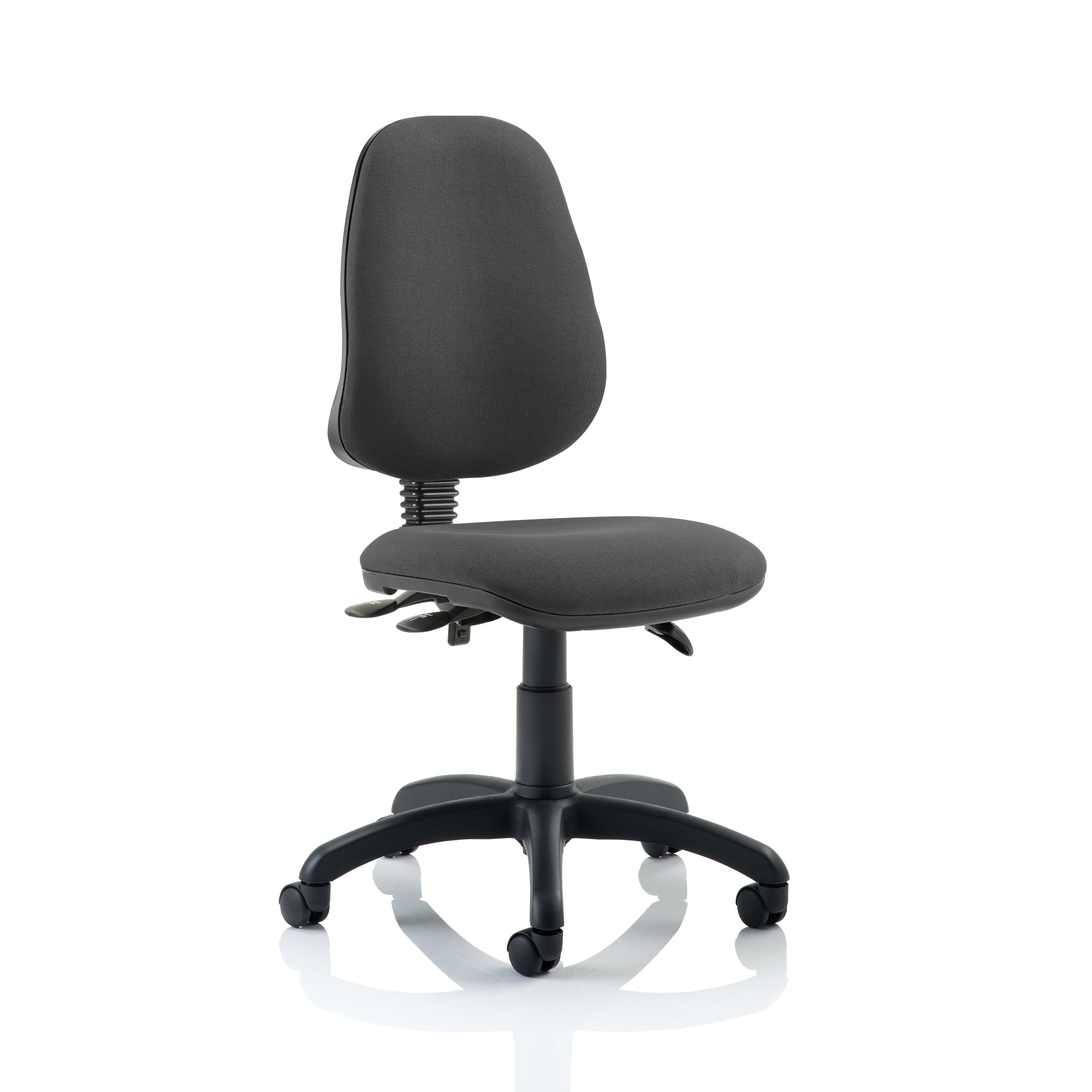 Trexus 3 Lever High Back Asynchronous Chair Charcoal 480x450x490-590mm Ref OP000033