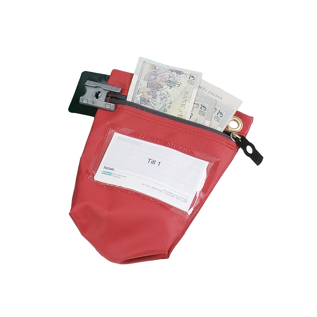 VersapakLtd Secure Cash Bag Red CCB0-RDS
