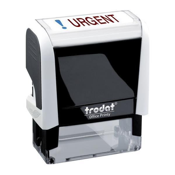 Trodat Office Printy Self Inking Text Stamp URGENT 46x18mm Red/Blue