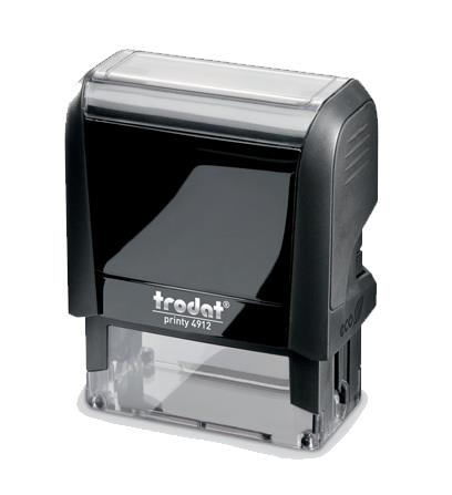 Trodat Office Printy Self Inking Text Stamp OVERDUE 46x18mm Red/Blue