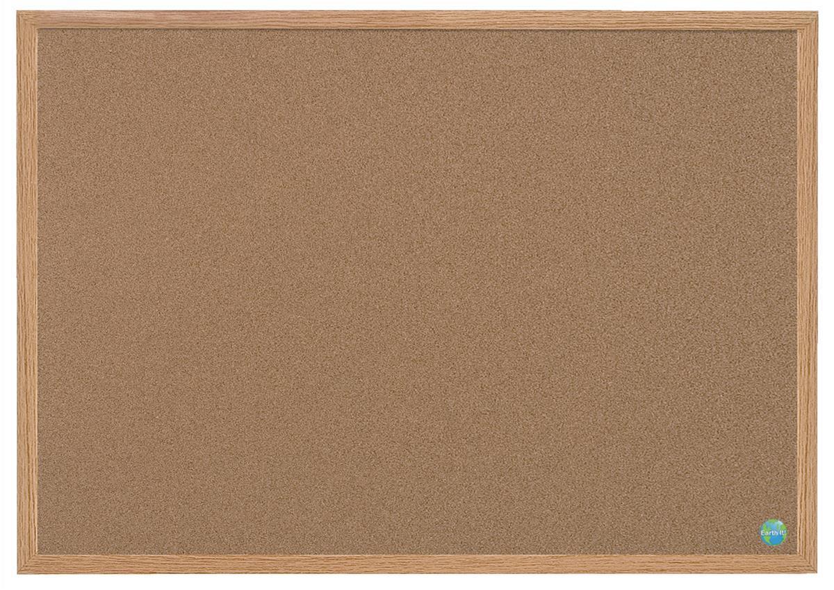 Bi-Office Earth-it Cork Board MDF Frame 1200x900mm Code REC1401233