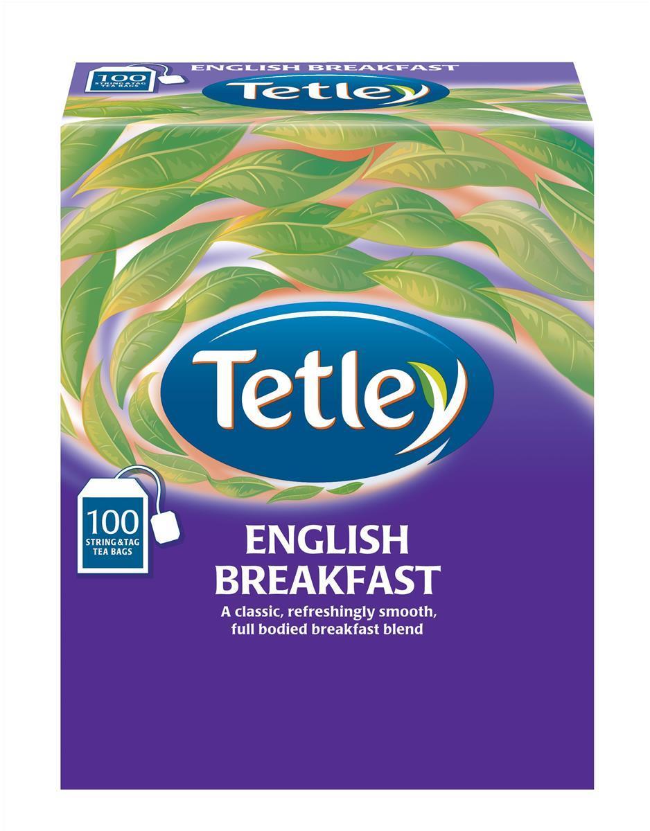 Tetley String & Tag English Breakfast Tea Pack 100 A01424