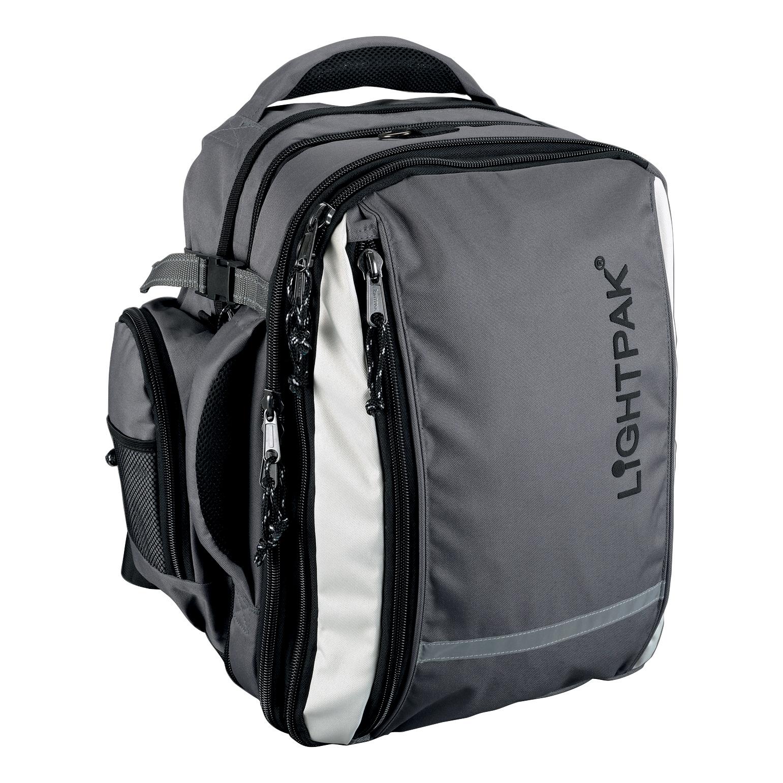 e25871027fa Image for Lightpak Vantage Backpack with Detachable Laptop Bag Nylon  Capacity 17in Grey Ref 46077
