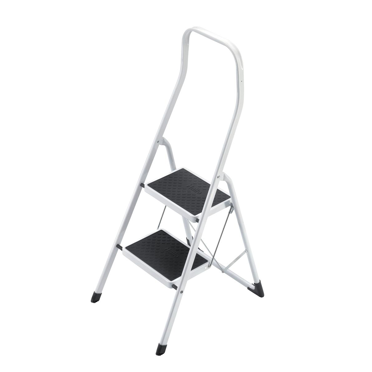 Image for 5 Star Facilities Safety Steps Folding Safety Rail H0.5m 2 Treads Capacity 150kg H2.26m 4.9kg