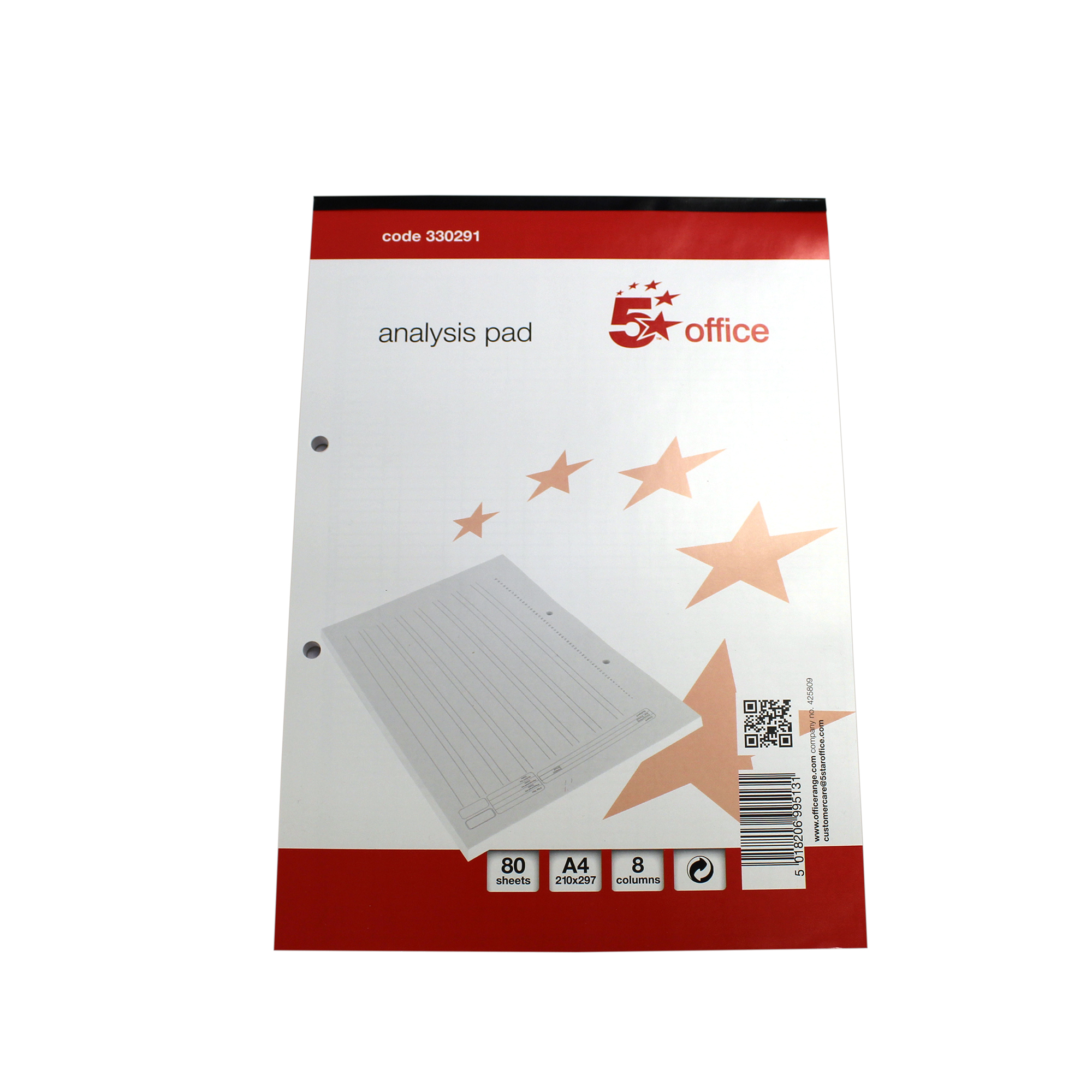 Image for 5 Star Analysis Pad Ruled 70gsm 8 Cash Column 80 Leaf A4