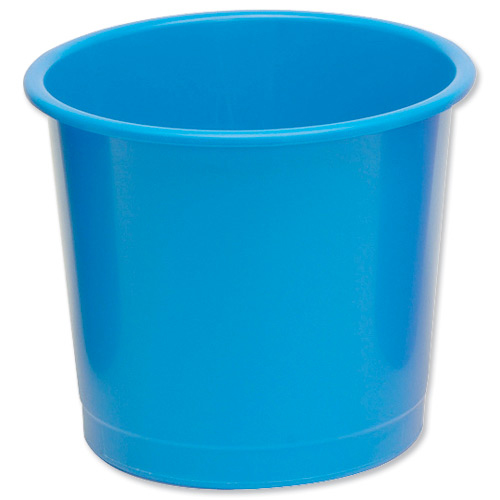 5 Star Office Waste Bin Polypropylene 14 Litres D254x304mm Blue