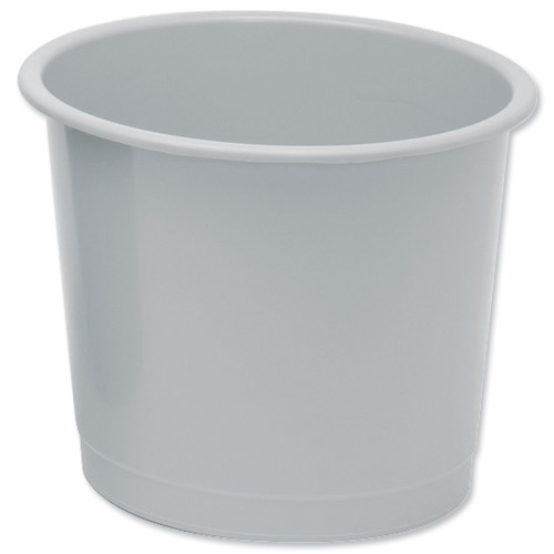 5 Star Office Waste Bin Polypropylene 14 Litres D304xH254mm Grey