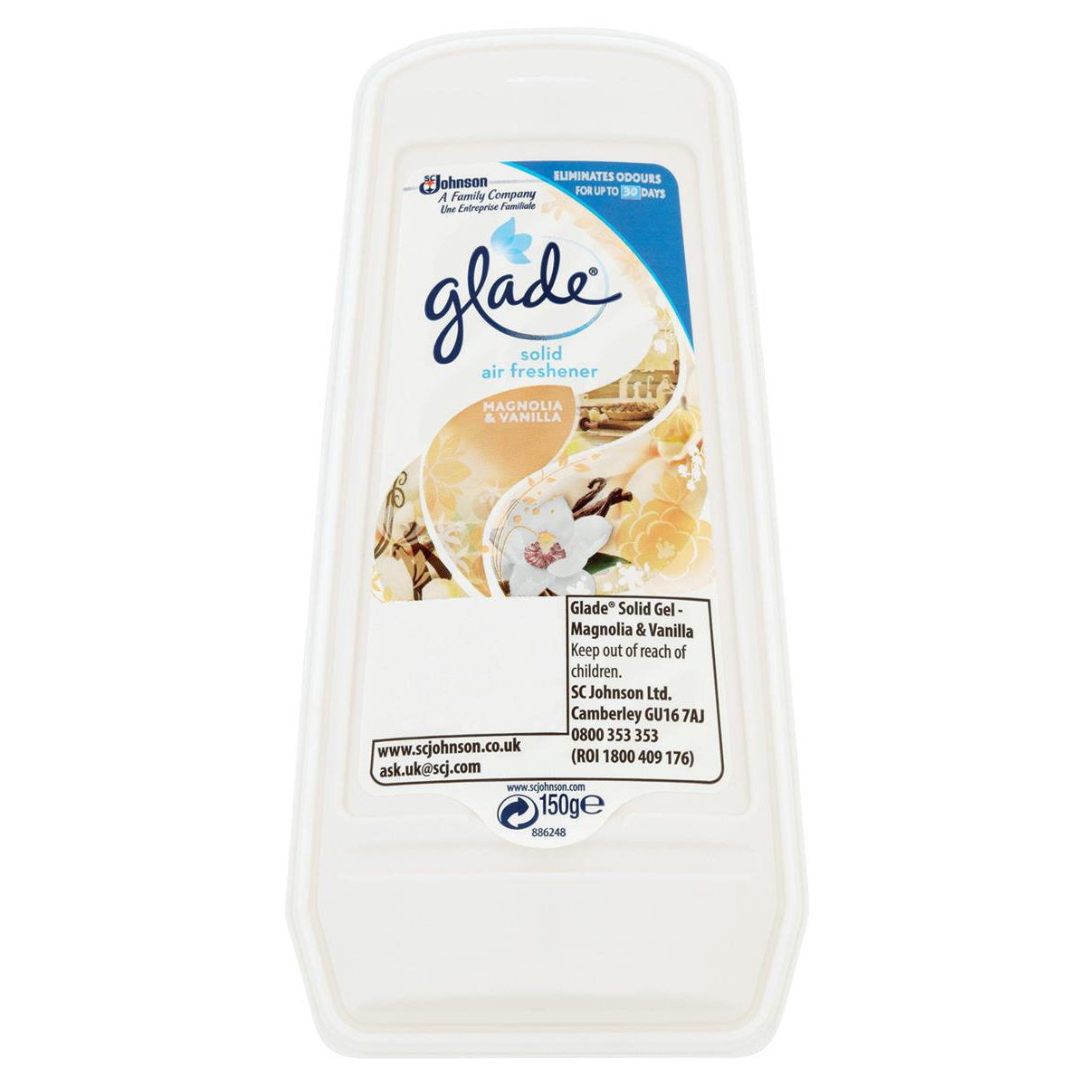 Image for Glade Gel Air Freshener Vanilla/Magnolia Ref 336107