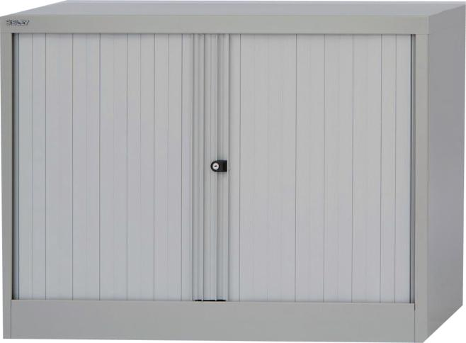 Bisley Side Opening Tambour Cupboard W1000xD470xH711mm Goose Grey (Pack of 1)