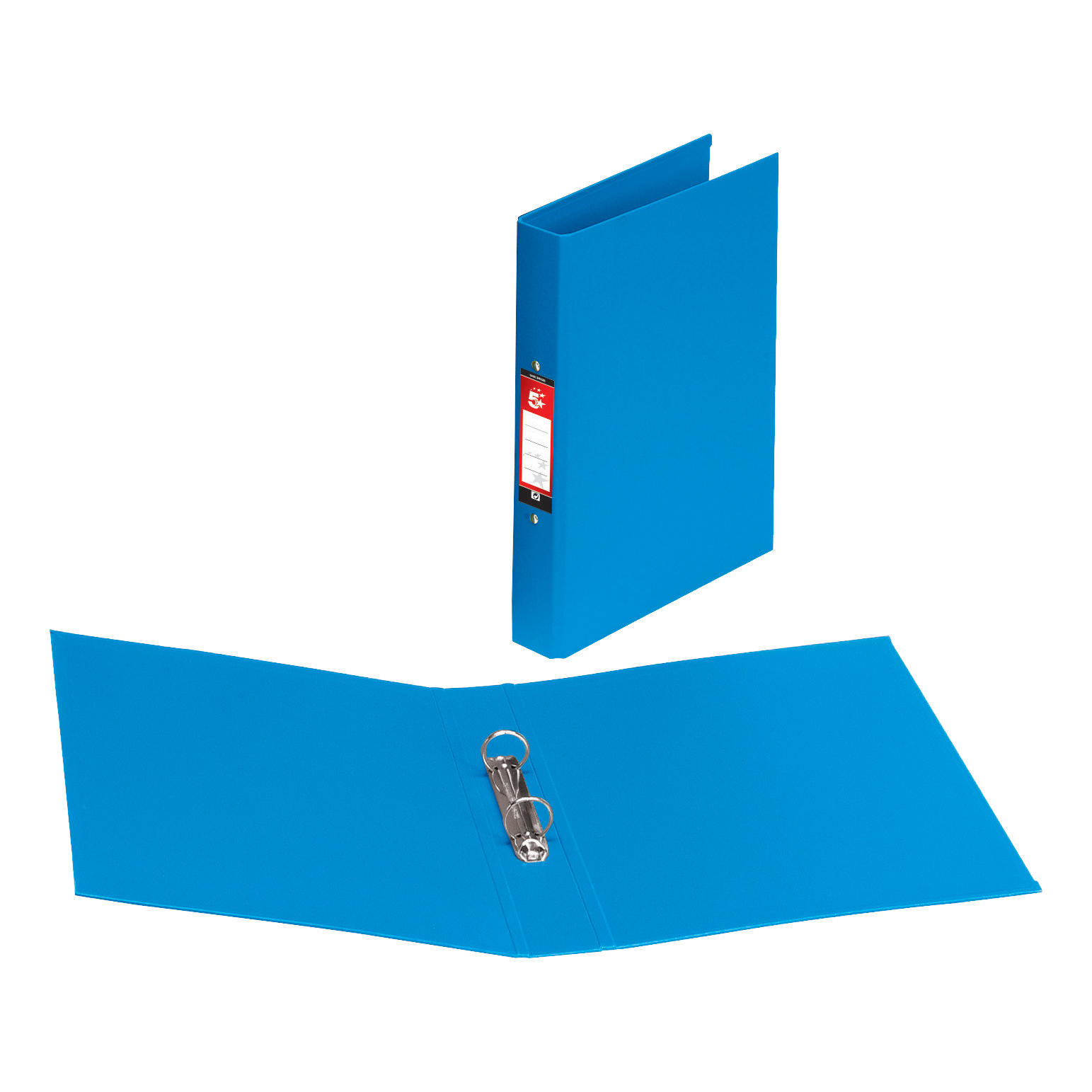 5 Star Office Ring Binder 2 O-Ring Size 25mm Polypropylene A4 Blue [Pack 10]