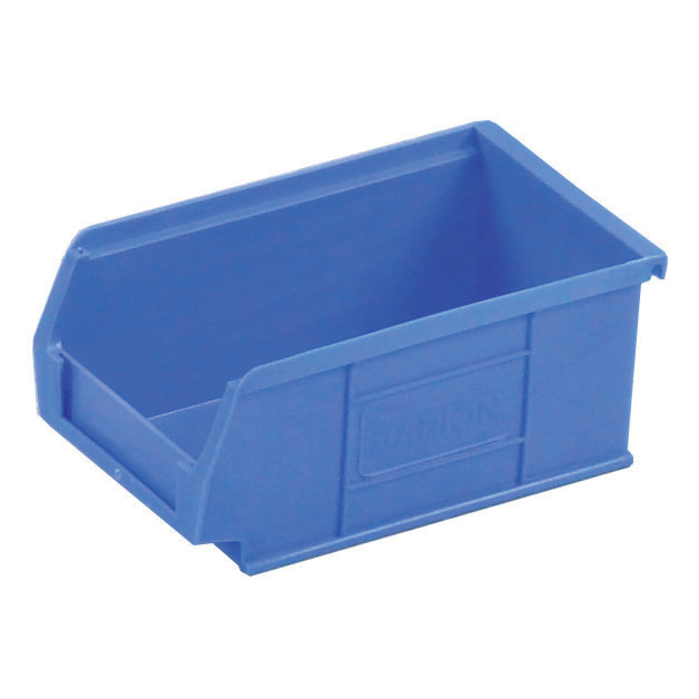 Image for Container Bin Heavy Duty Polypropylene W165xD100xH75mm Blue [Pack 20]