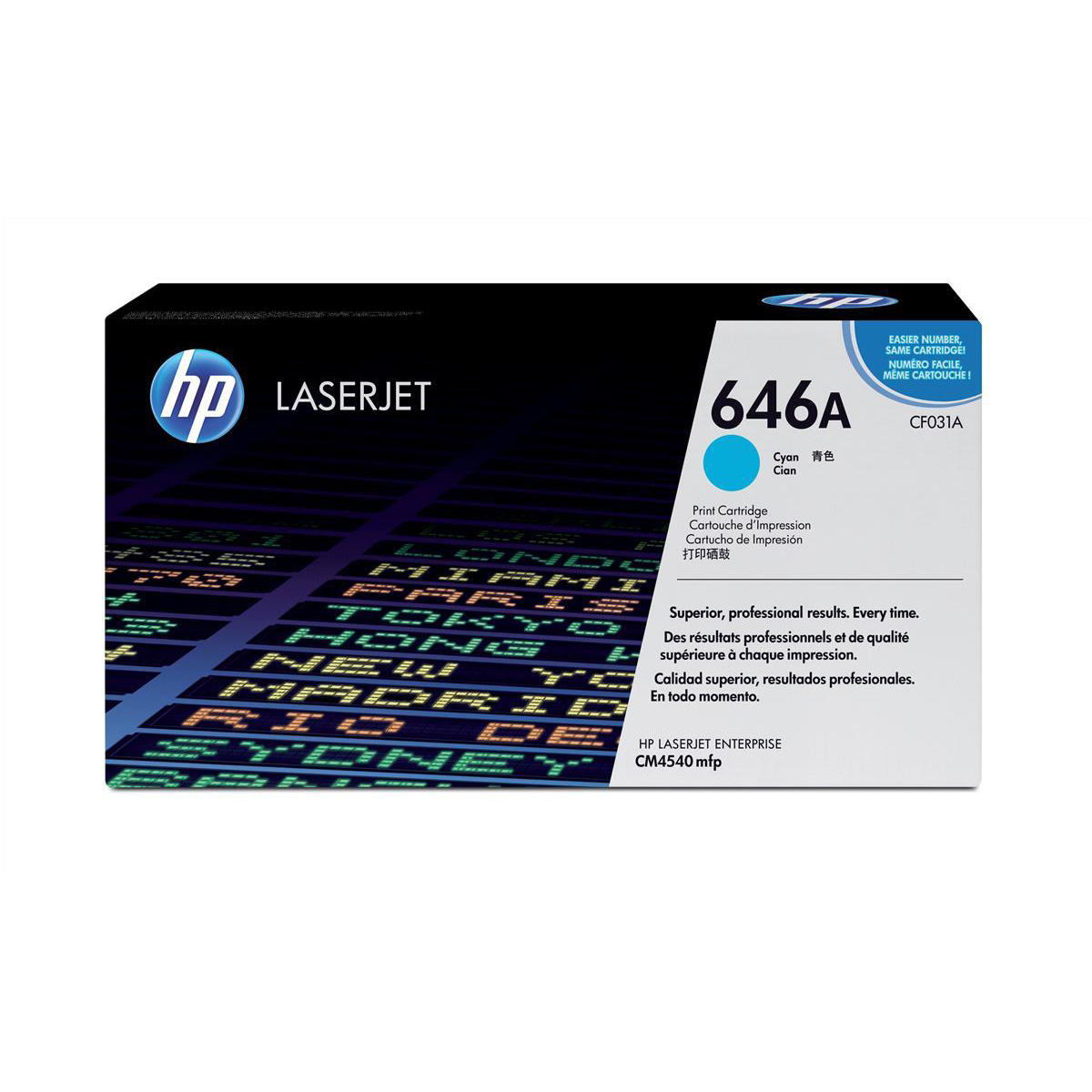 Image for HP 646A Cyan LaserJet Toner CF031A