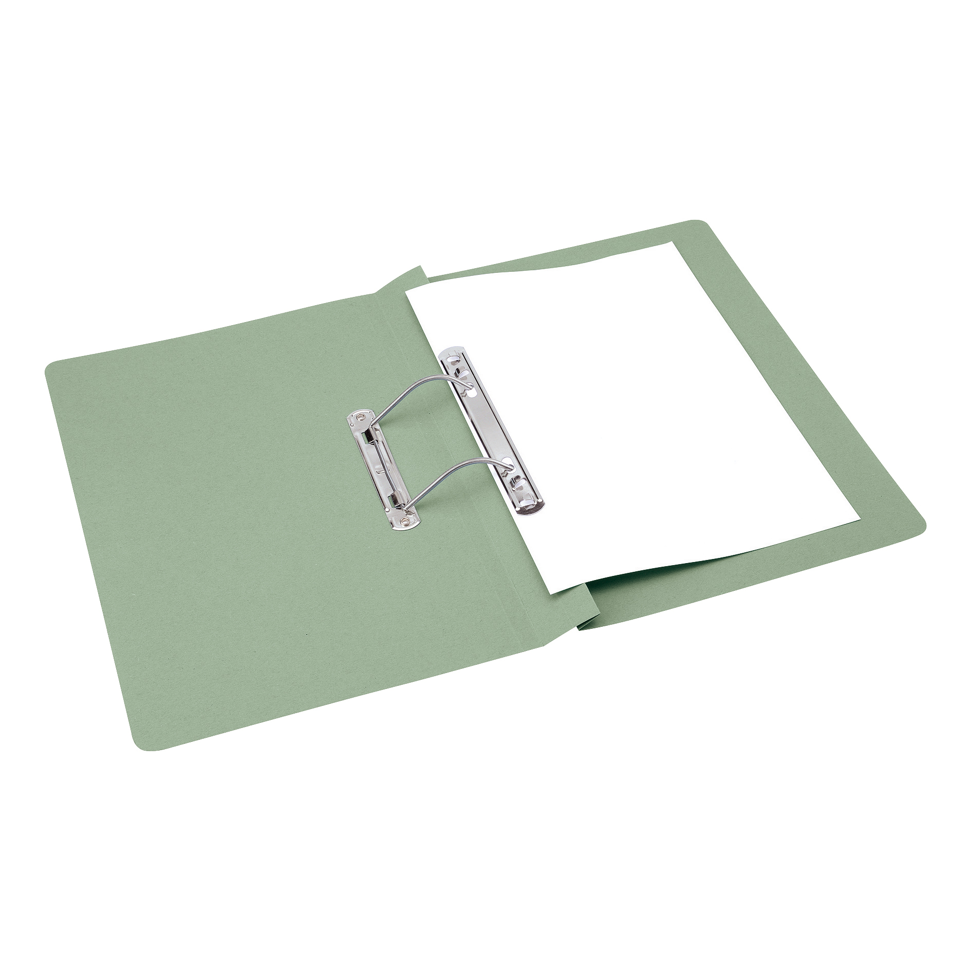 5 Star Office Transfer Spring File 285gsm 38mm Foolscap Green [Pack 50]