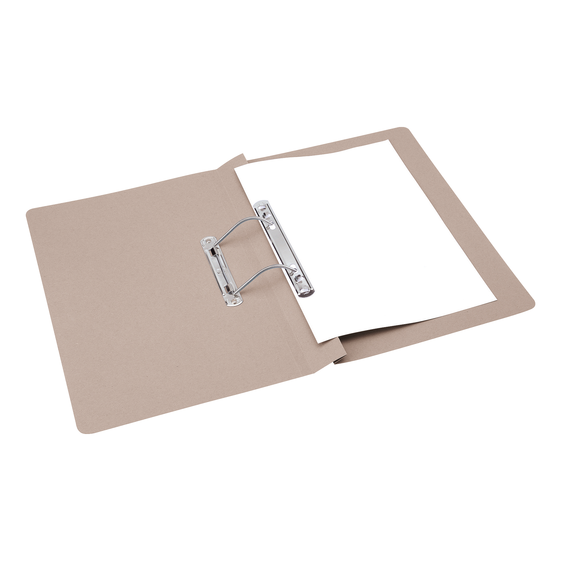 5 Star Office Transfer Spring File 285gsm 38mm Foolscap Buff [Pack 50]