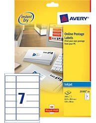 Avery SmartStamp Labels Inkjet All-in-One 14 per Sheet 63.5/135x38mm 350 Labels Code J5102-25
