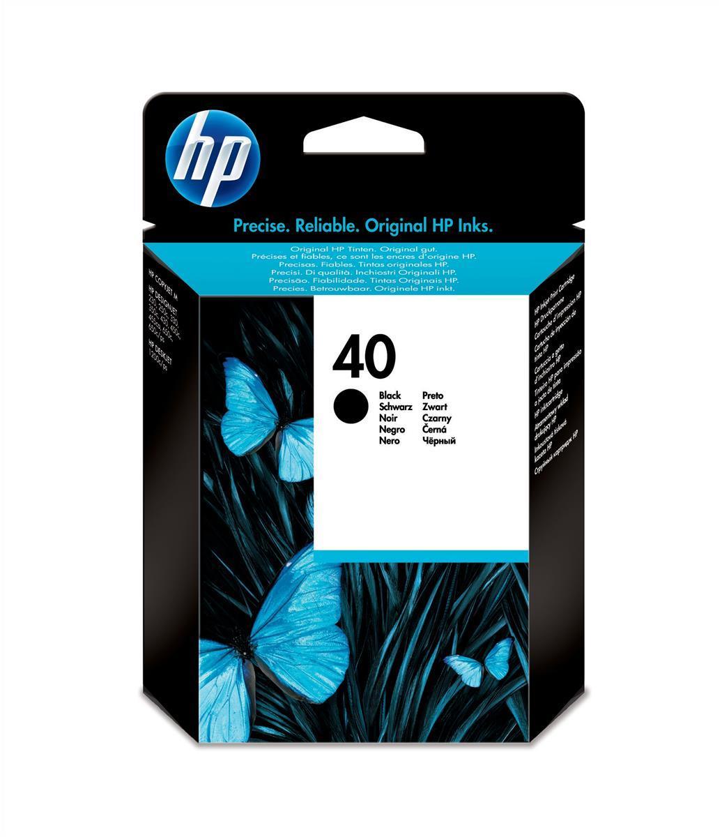 HP No.40A Inkjet Cartridge 42ml Black Code 51640AE