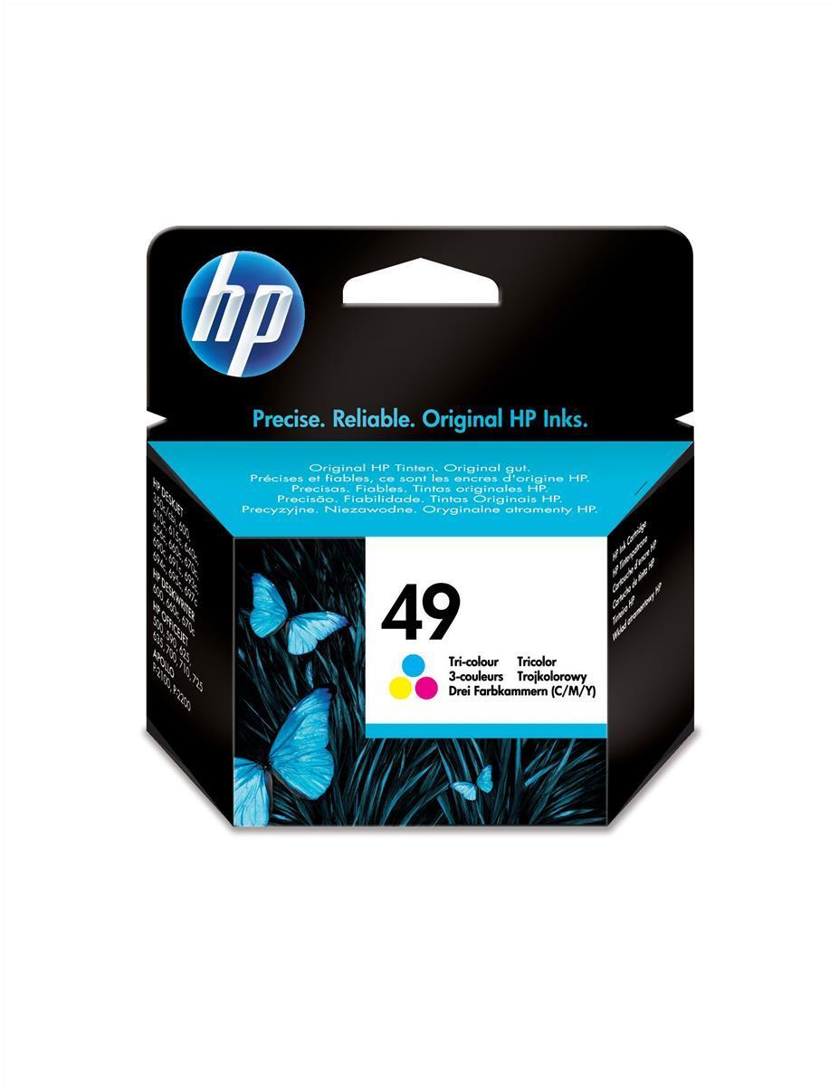HP 49 Inkjet Cart Colour 51649AE