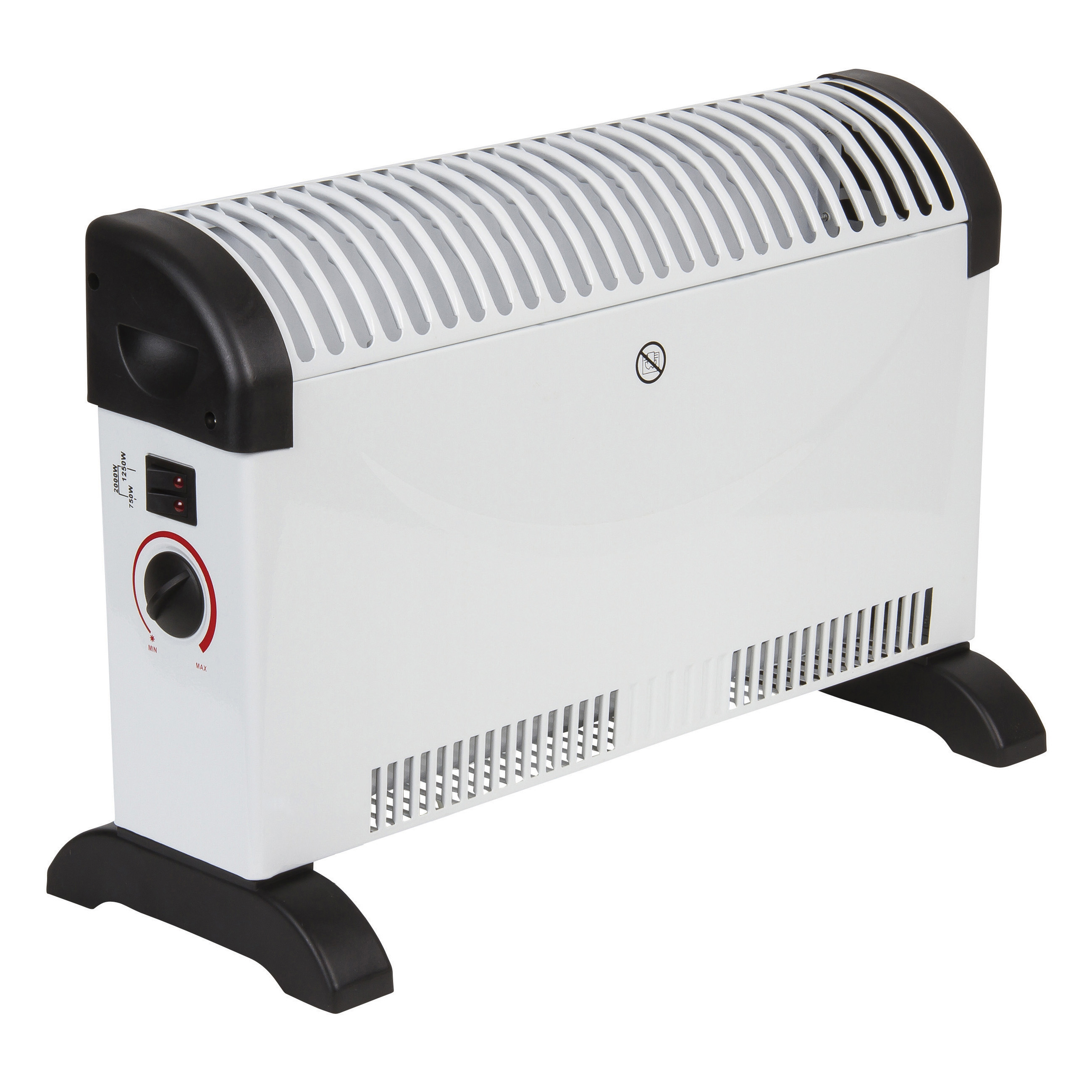 Image for 5 Star Facilities Convector Heater Electric 3 Heat Settings 750W/1250W/2000W White and Black (1)