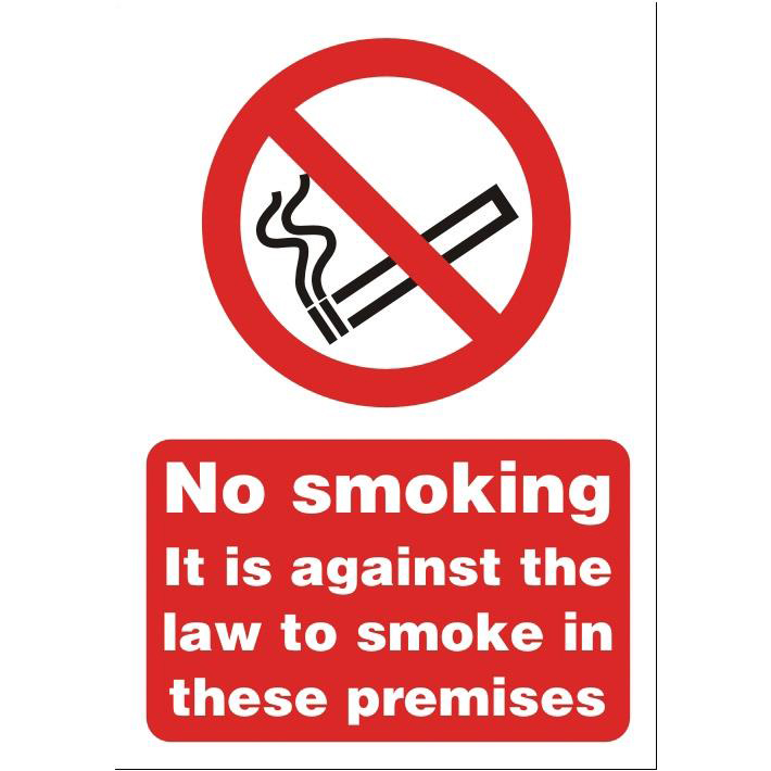 Stewart Superior No Smoking on Premises Sign A5 Self-adhesive Vinyl Ref SB003SAV