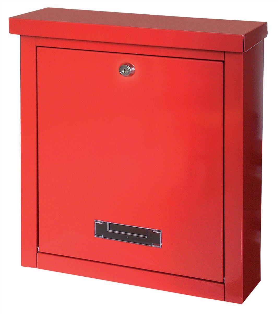 Rottner Brighton Mail Box Opening Suitable for A4 Documents 400x155x310mm Red T04504