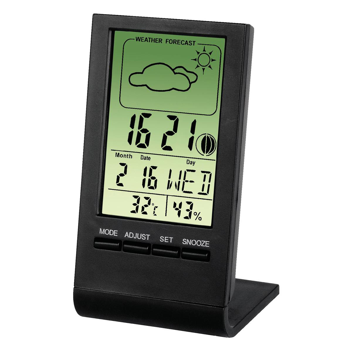 Image for Thermometer/Hygrometer LCD Digital Display Weather Station Black