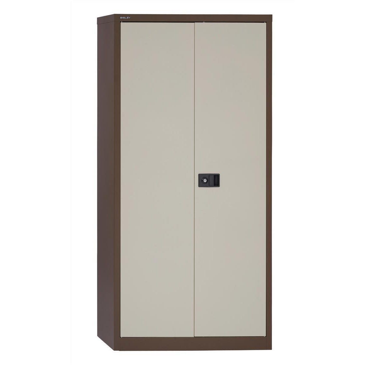 Trexus Two Door Steel Storage Cupboard 914x400x1806mm Coffee/Cream Ref