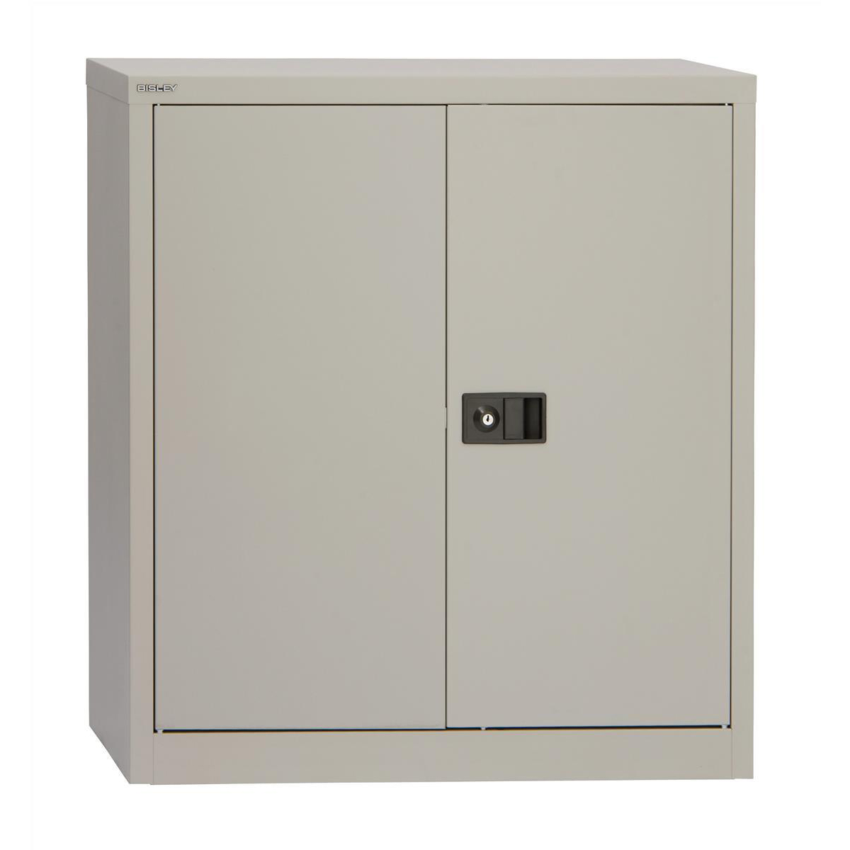 Trexus Two Door Steel Storage Cupboard 914x400x1000mm Grey Ref