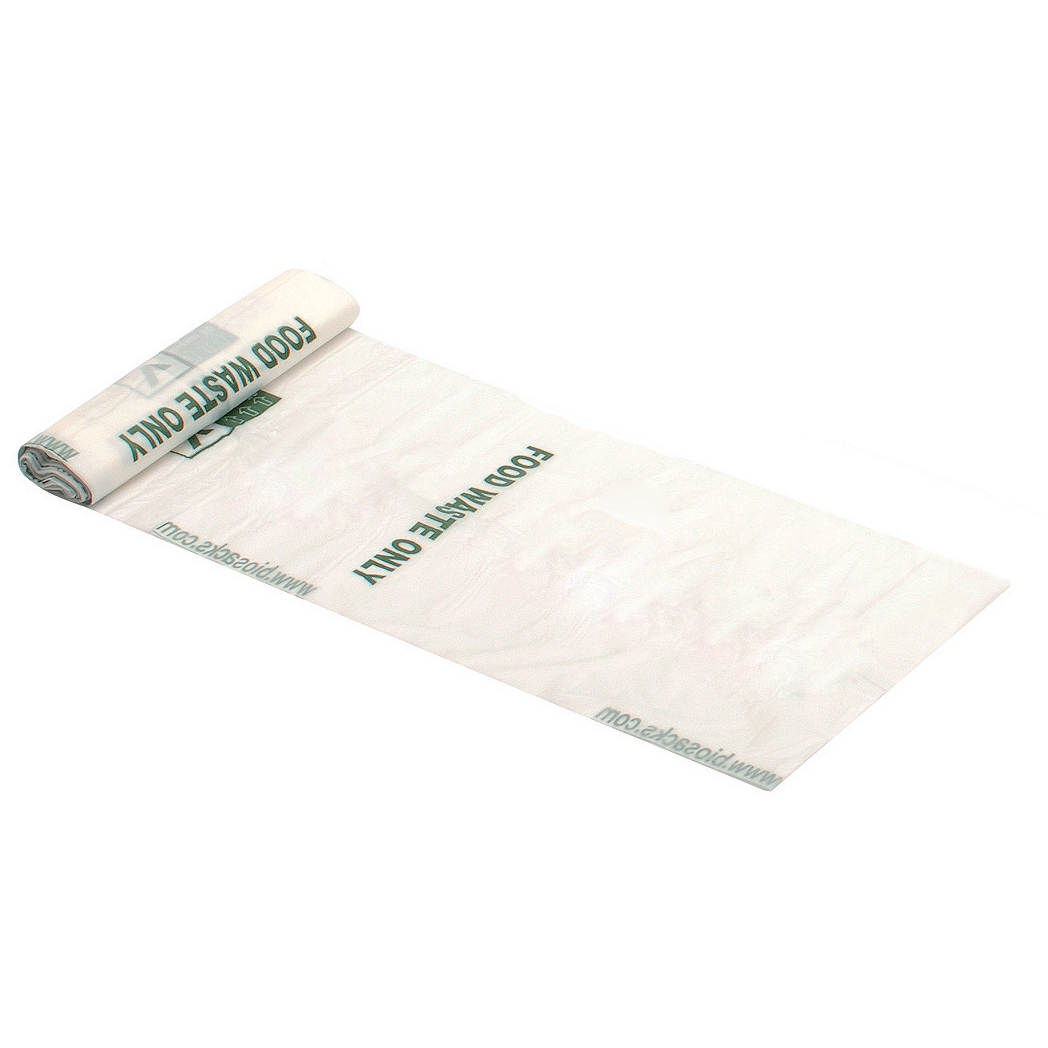 Image for 5 Star Facilities Compostable Liners Potato Starch Medium Heavy Duty 7Ltr W200/395xH345mm White [Roll 25]