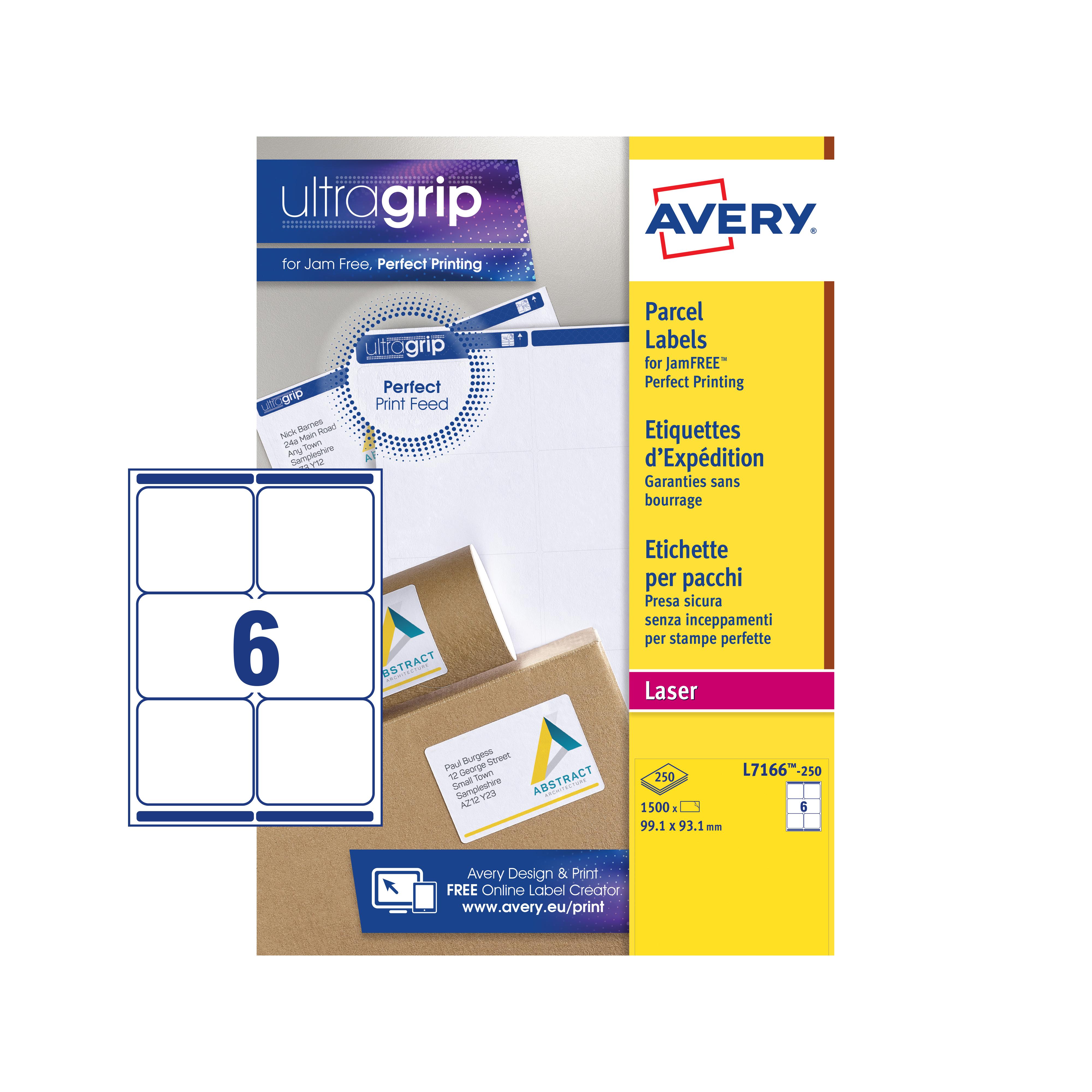 Avery FSC Laser Labels White L7166-250