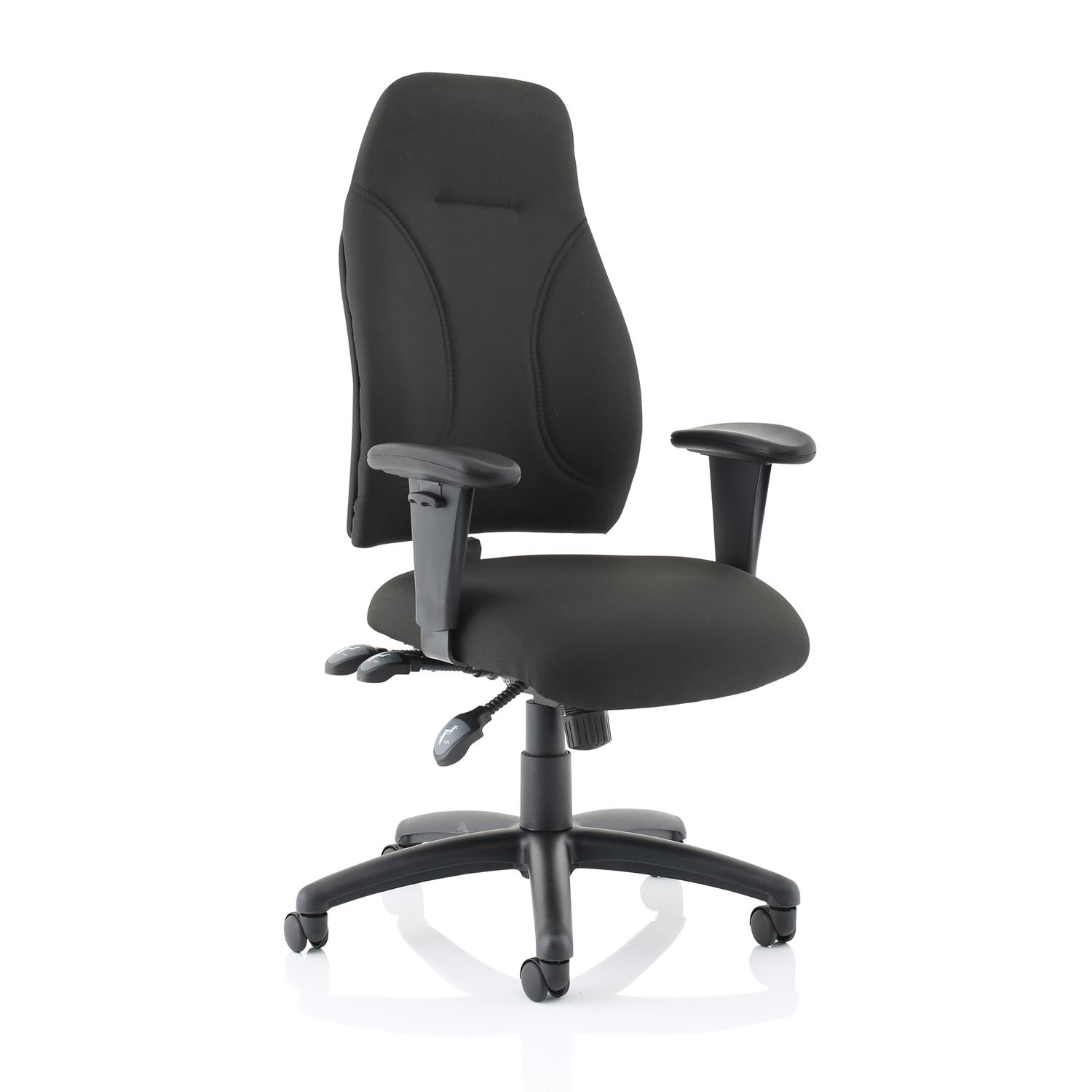 Trexus Posture High Back Asynchronous Chair Black 500x500x520-530mm Ref SP413845