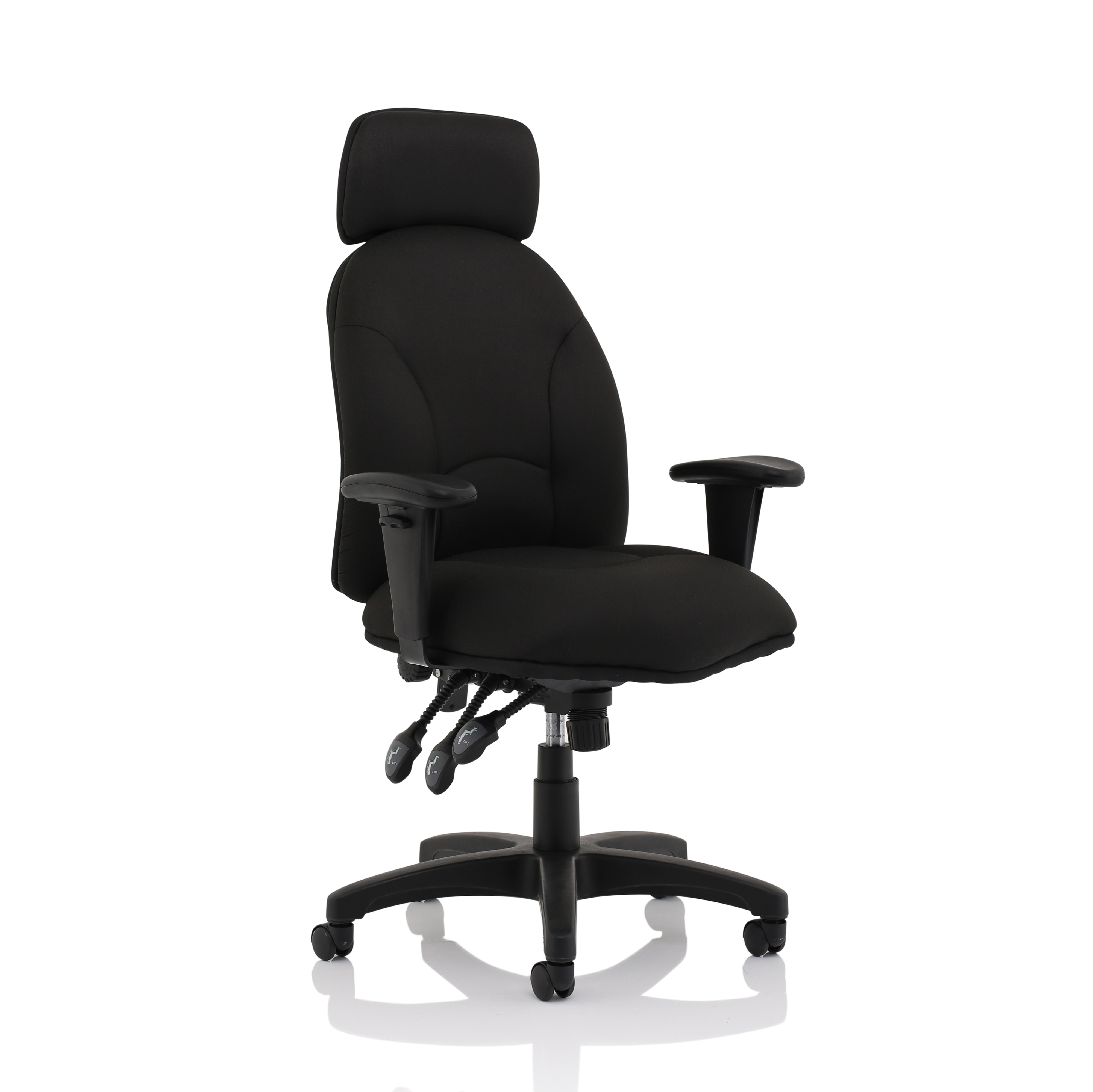 Trexus Energize Aviator Chair Black 540x450x490-590mm Ref 11199-01Black