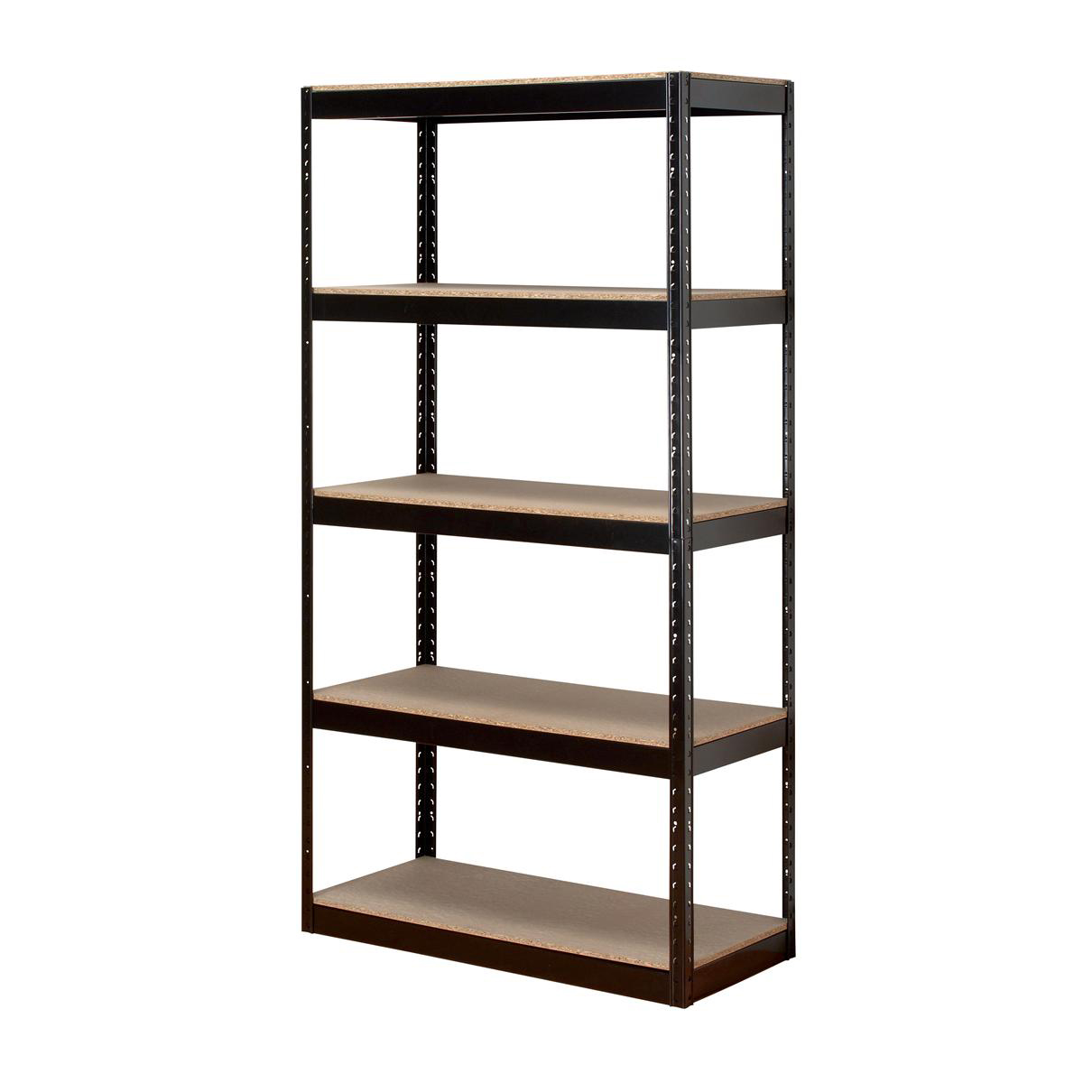 Influx Storage Shelving Unit Heavy-duty Boltless 5 Shelves Capacity 150kg Black Ref SP