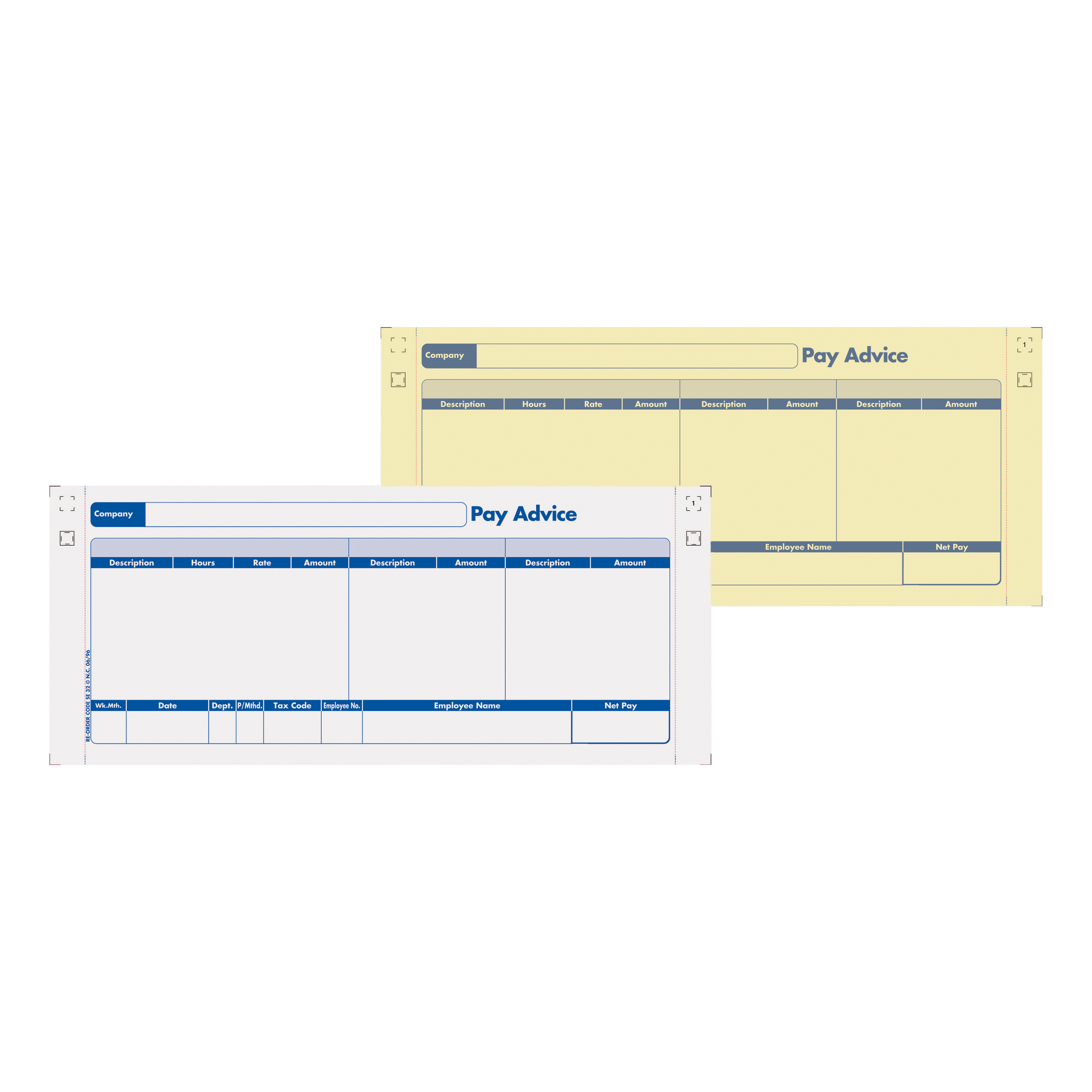 Sage Compatible Pay Advice with NCR File Copy 2 Part Ref SE32 [Pack 1000]