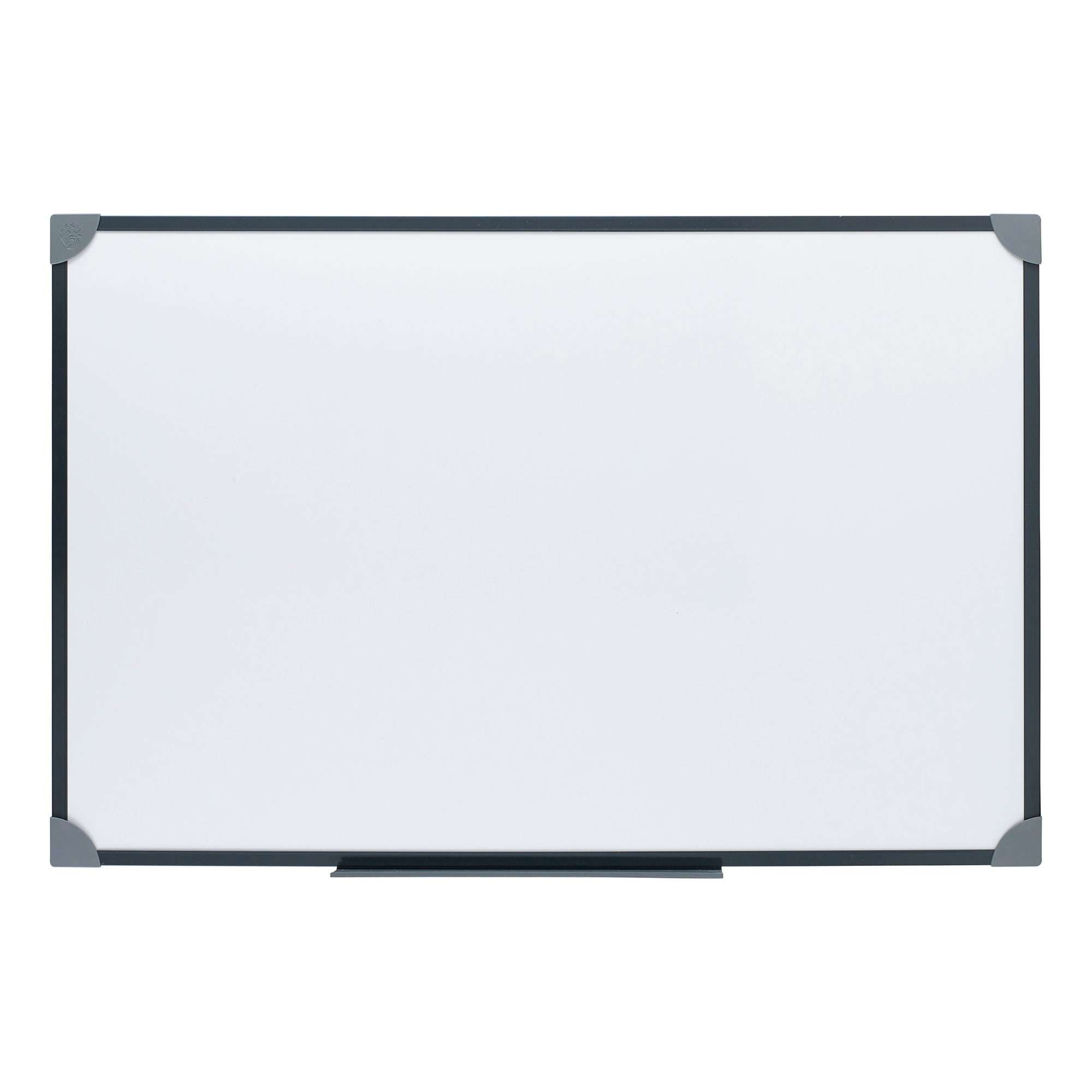 5 Star Office Drywipe Board Magnetic Lightweight with Fixing Kit and Pen Tray 900x600mm