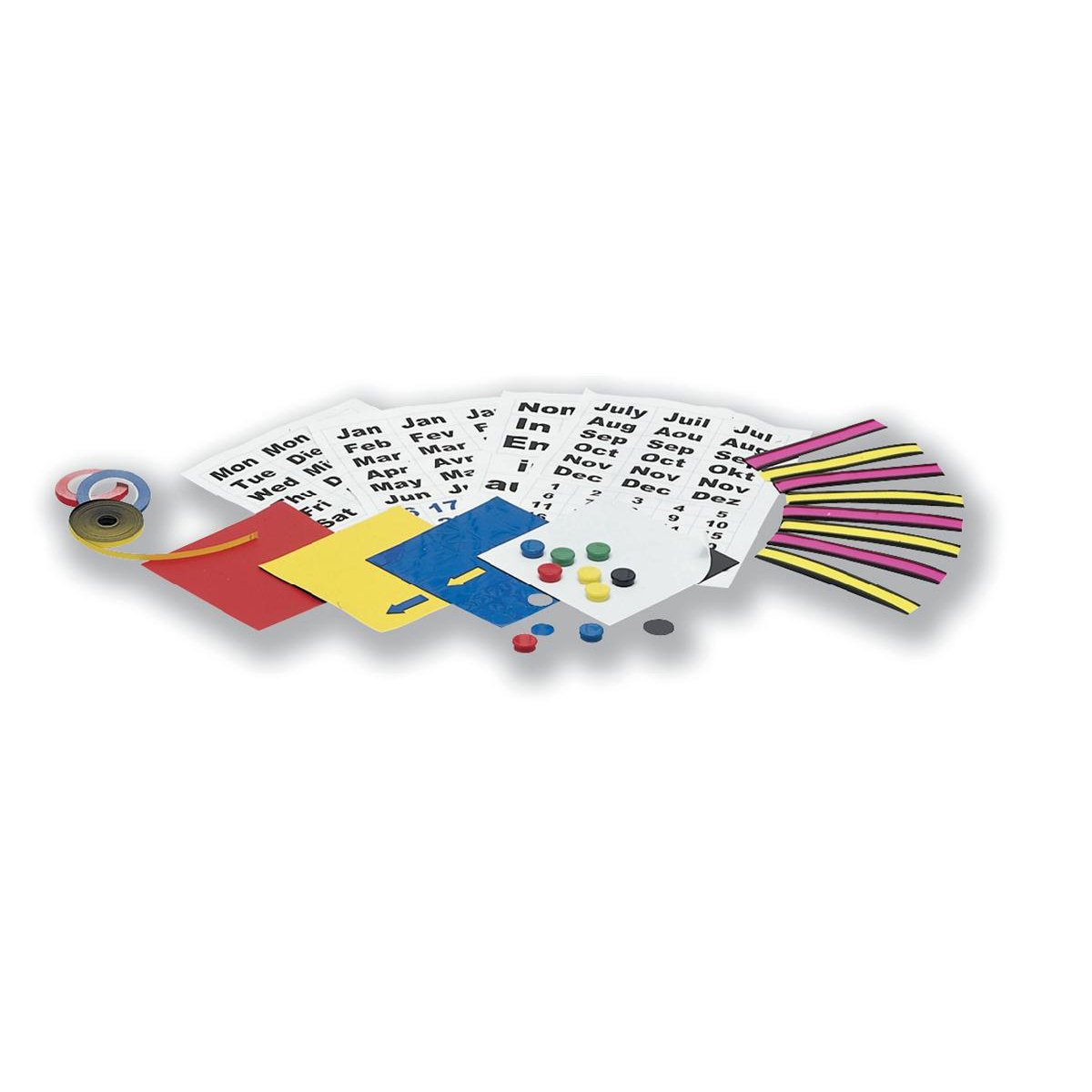 5 Star Office Magnetic Planning Kit with Name Holders Month and Day Symbols