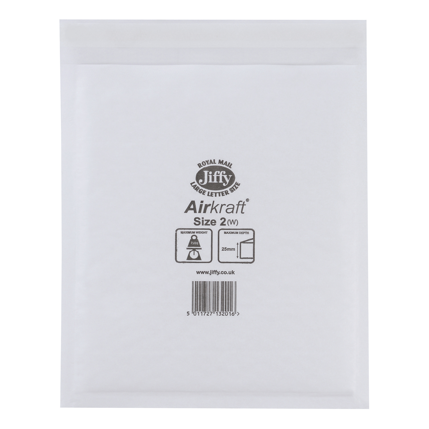 Image for Jiffy Airkraft Postal Bags Bubble-lined Peel and Seal Size 2 205x245mm White Ref JL-AMP-2-10 [Pack 10]