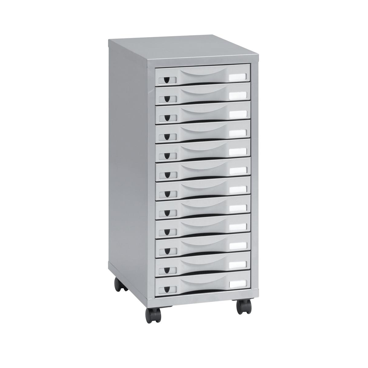 Pierre Henry 12 Drawer Multidrawer 300x390x710mm Silver Grey Ref 95072