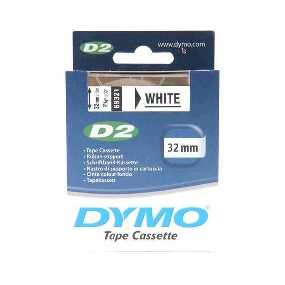Dymo D2 Tape Cassette 32mmx10m White Code S0721250