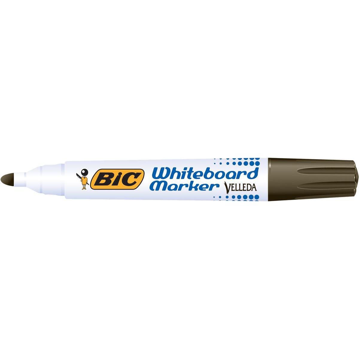 Bic Velleda 1701 Whiteboard Marker Bullet Tip Line Width 1.5mm Black Ref 942234 [Pack 12]