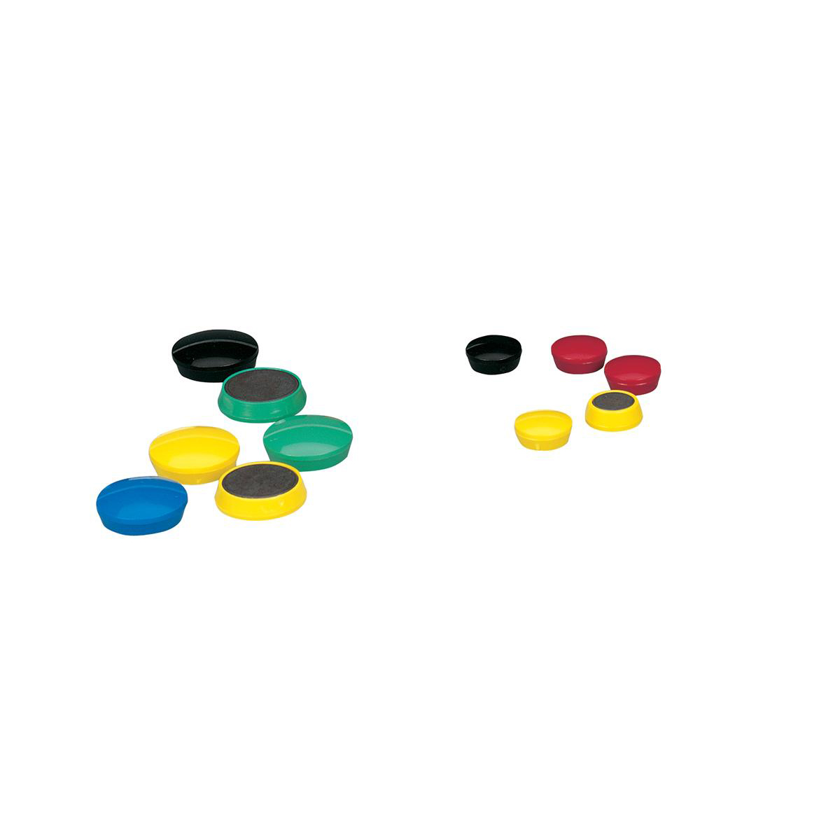 5 Star Office Round Plastic Covered Magnets 24mm Assorted