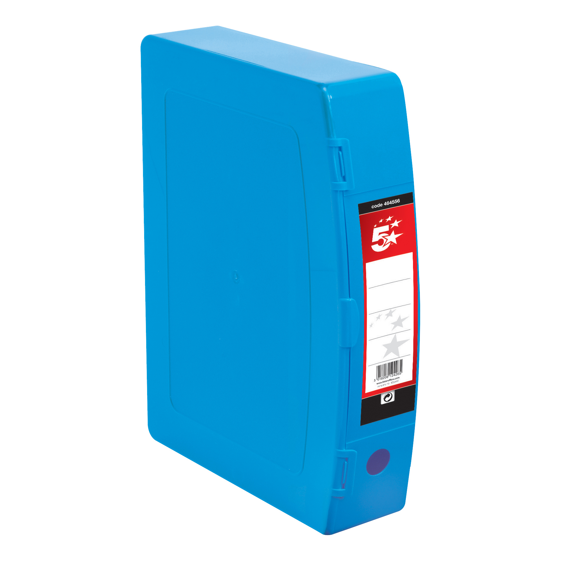 5 Star Premier Box File Polypropylene with Twin Clip Lock Foolscap Blue