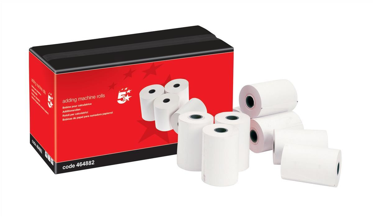 Image for 5 Star Office Adding Machine Roll 2-Ply 57x57mm White