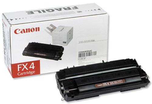 Image for Canon FX4 Fax Laser Toner Cartridge Page Life 4000pp Black Ref 1558A003