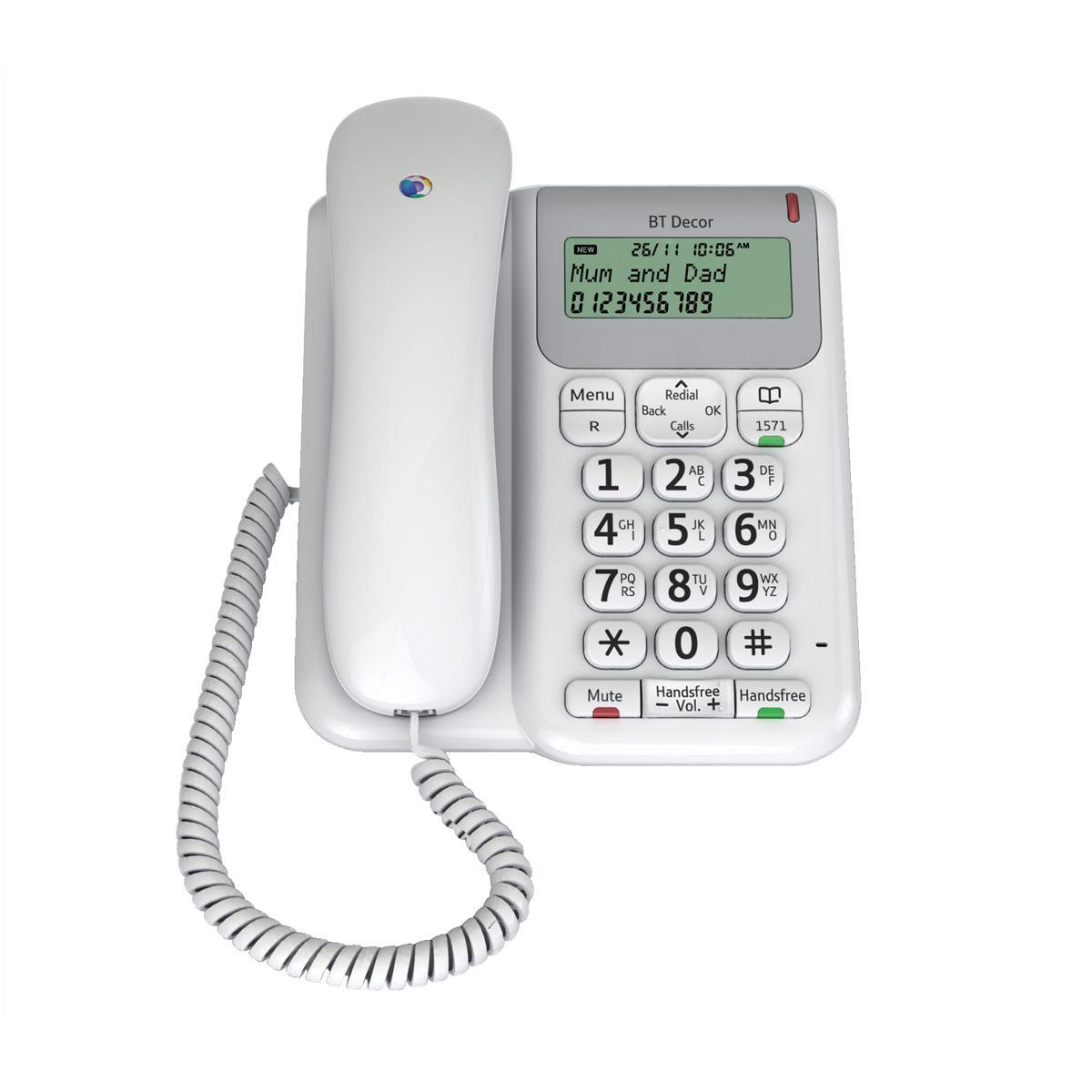 Image for BT Decor 2200 Telephone 3-line LCD 50-entry Phonebook 30 Caller IDs Ref 061127