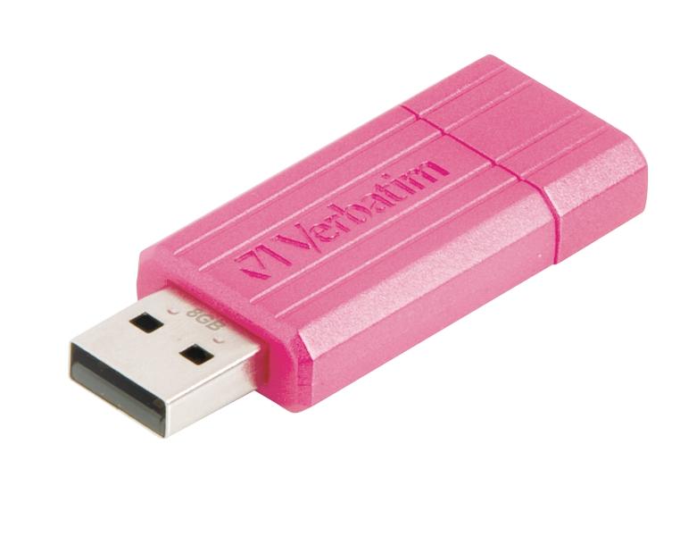 Verbatim P/stripe USB Drive8GB Pink47397