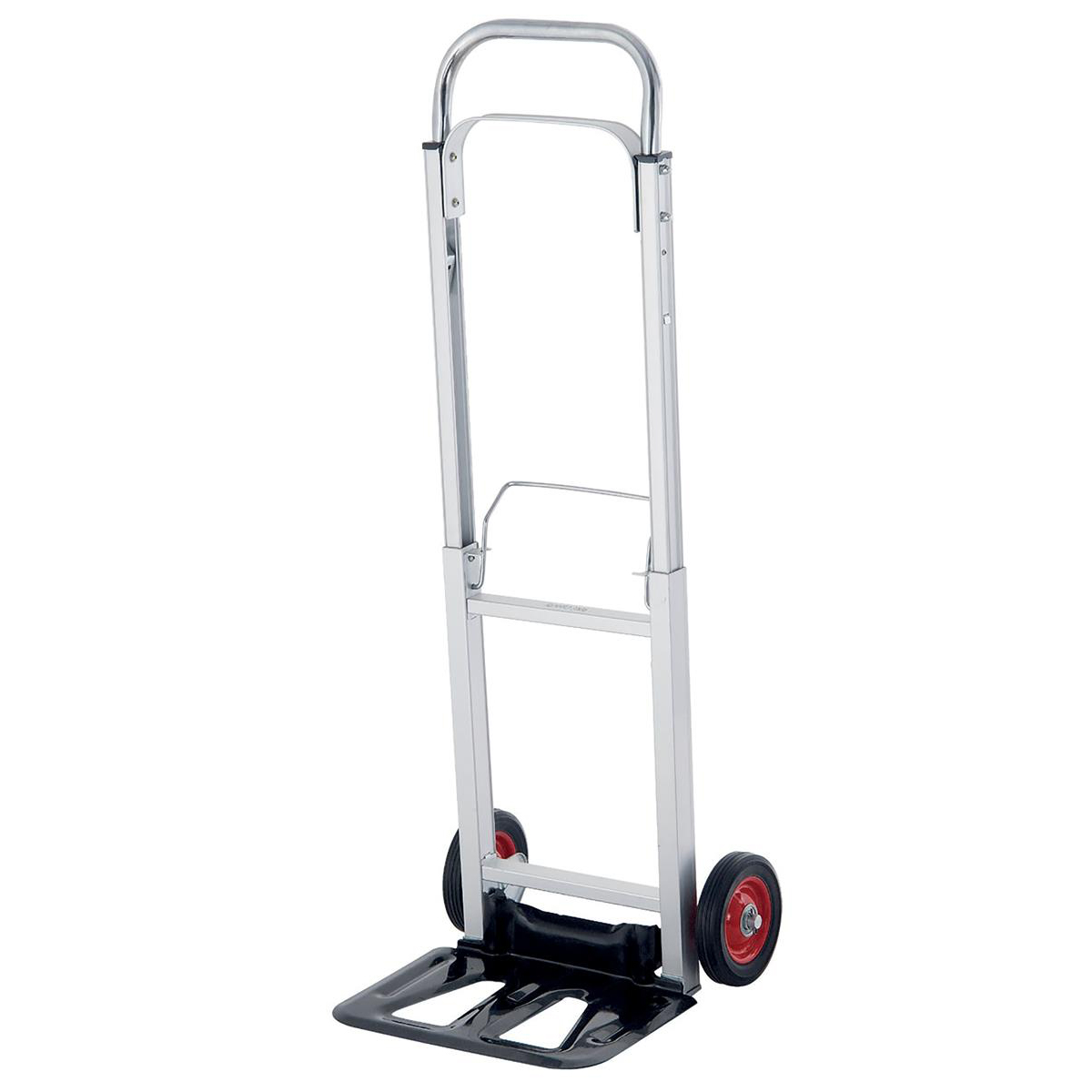 Hand Trolley Telescopic Handle Lightweight Capacity 90kg Foot Size W355xL235mm Blue