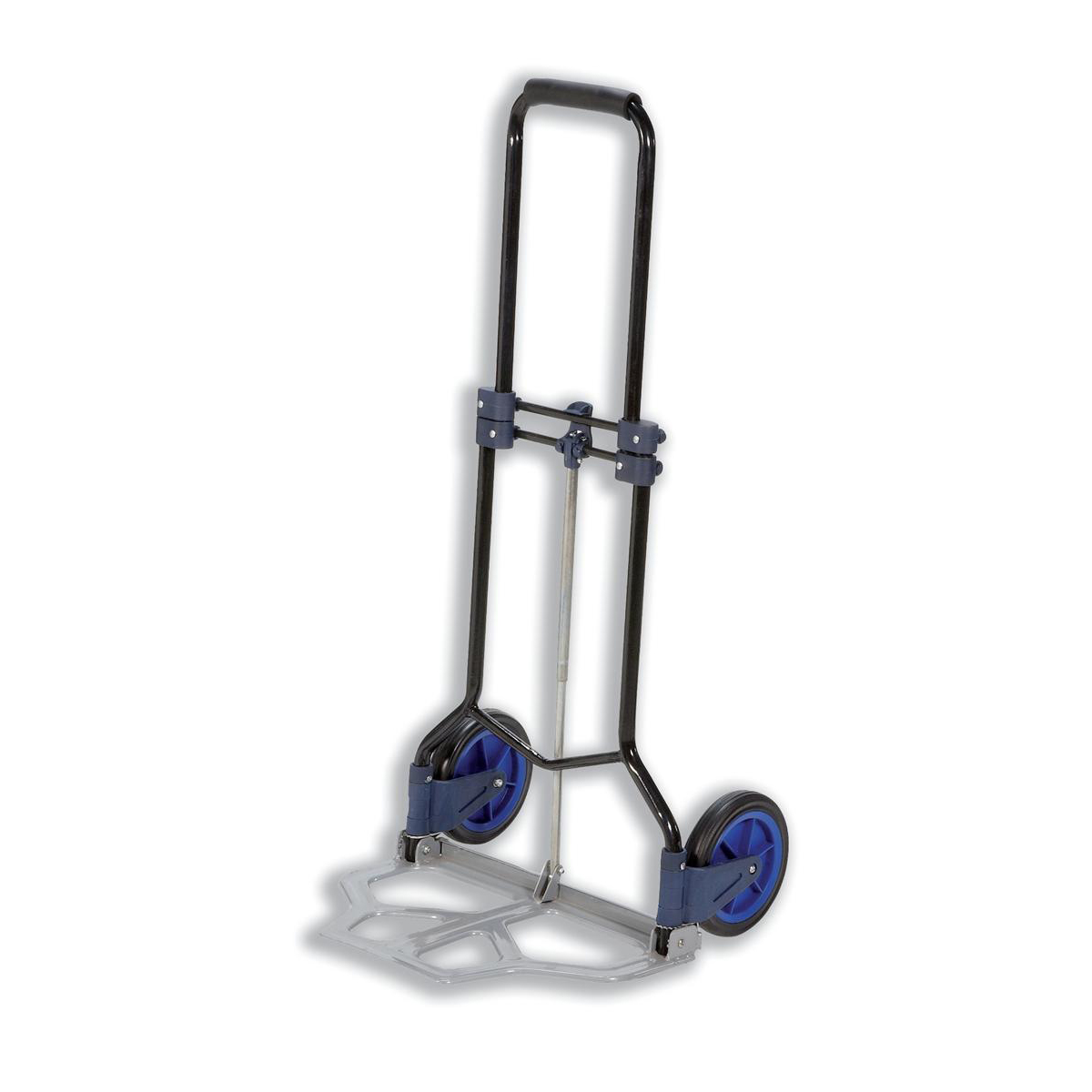 5 Star Facilities Hand Trolley Folding Capacity 70kg Foot Size W480xL470mm Black